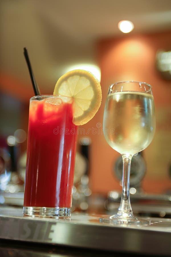 Diverses boissons alcoolisées photos stock