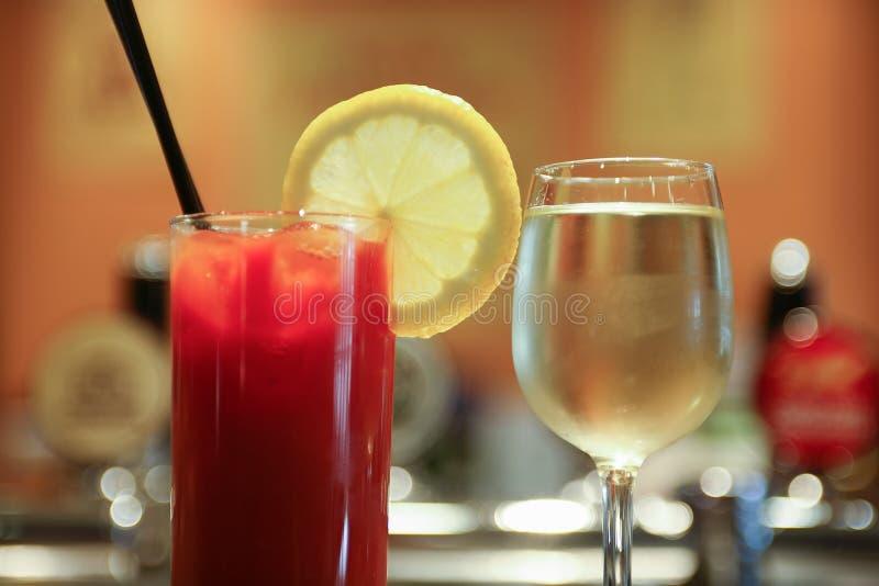 Diverses boissons alcoolisées images stock