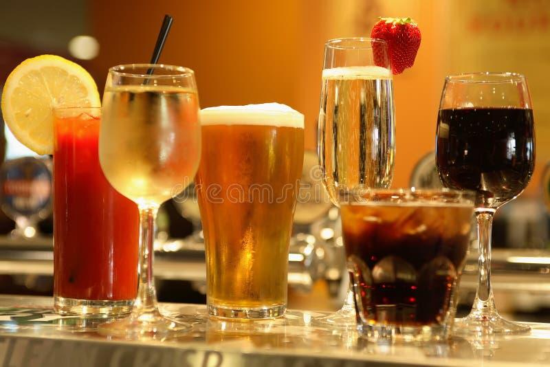 Diverses boissons alcoolisées photo libre de droits