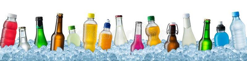 Diverses boissons en glace écrasée images libres de droits