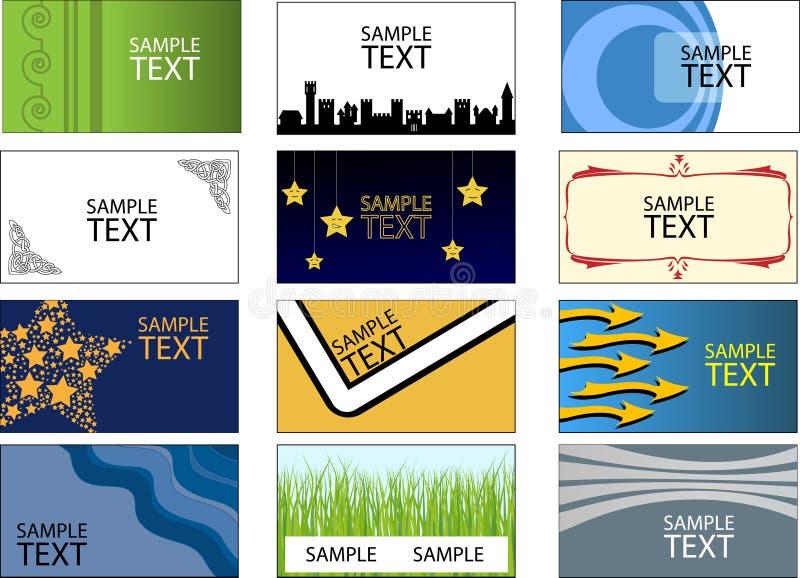 Diverses cartes de visite professionnelle de visite illustration libre de droits