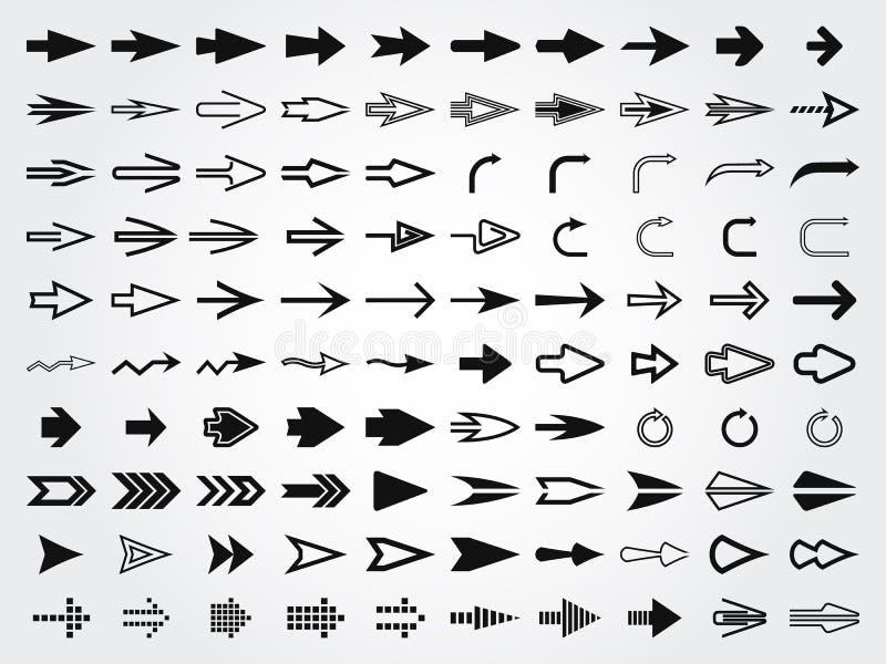 Diverses flèches de vecteur illustration de vecteur