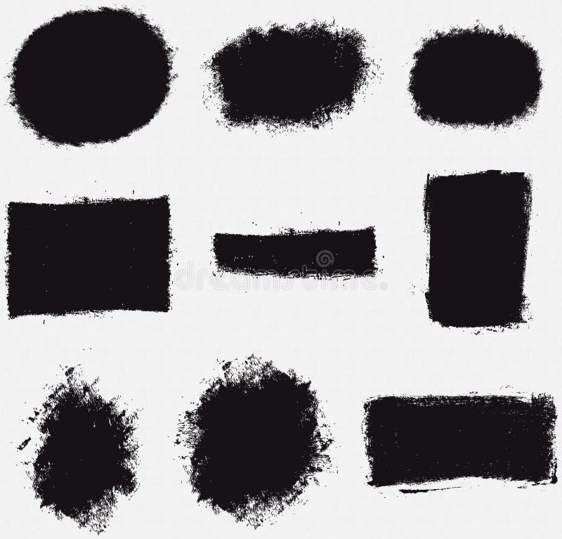 Diverses formes de vecteur de tache de champ de cablage à couches multiples illustration libre de droits