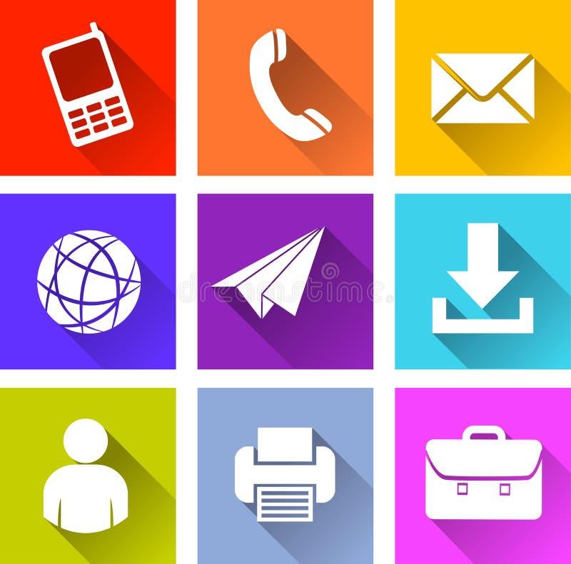 Diverses icônes de Web illustration libre de droits