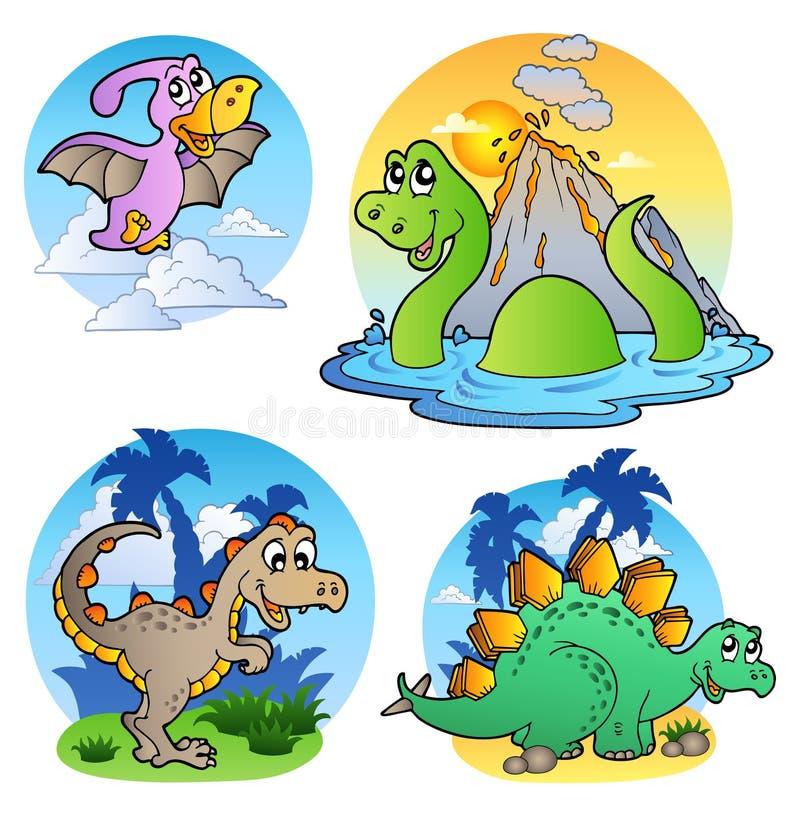Diverses images 1 de dinosaur illustration de vecteur