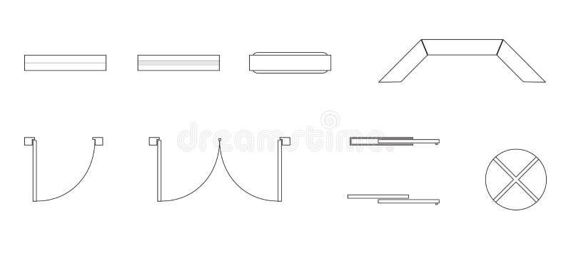 Diverses portes et dessin de fenêtres images libres de droits