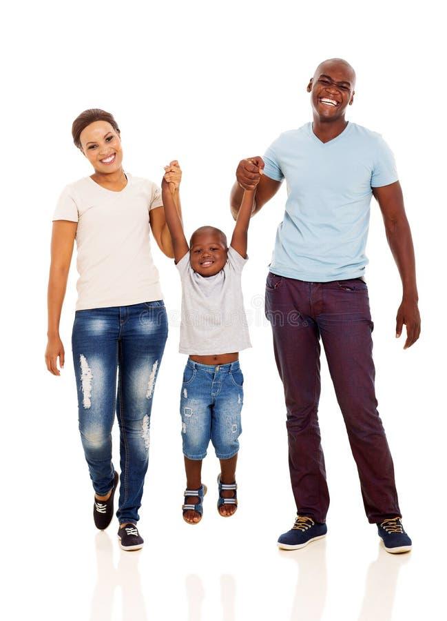 Diversión africana de la familia imagen de archivo libre de regalías