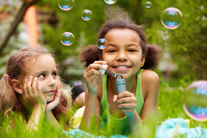 Diversión de la burbuja foto de archivo libre de regalías