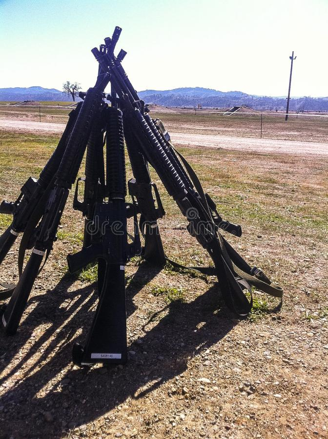 Diversión de la gama de rifle fotos de archivo