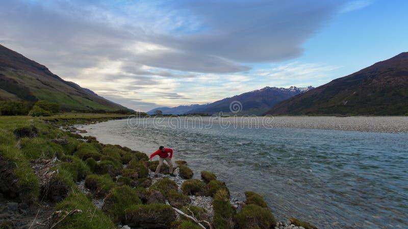 Diversión de la mañana en Nueva Zelanda fotografía de archivo