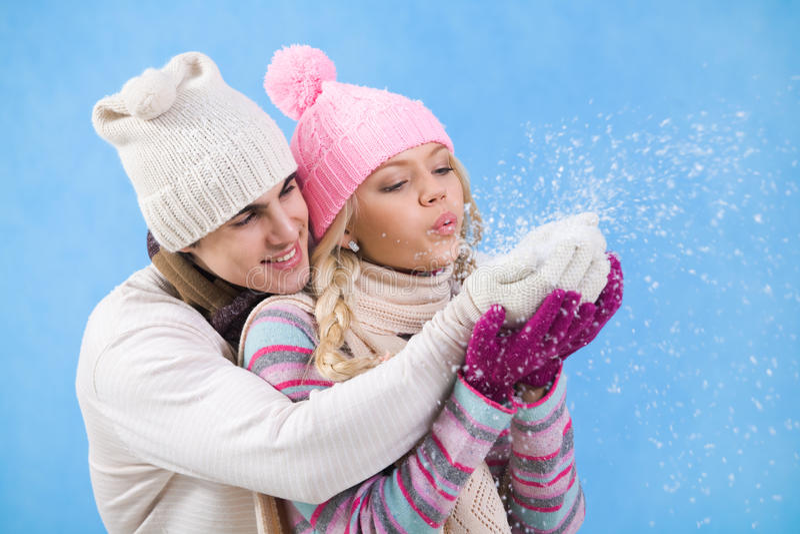 Diversión de la nieve foto de archivo libre de regalías