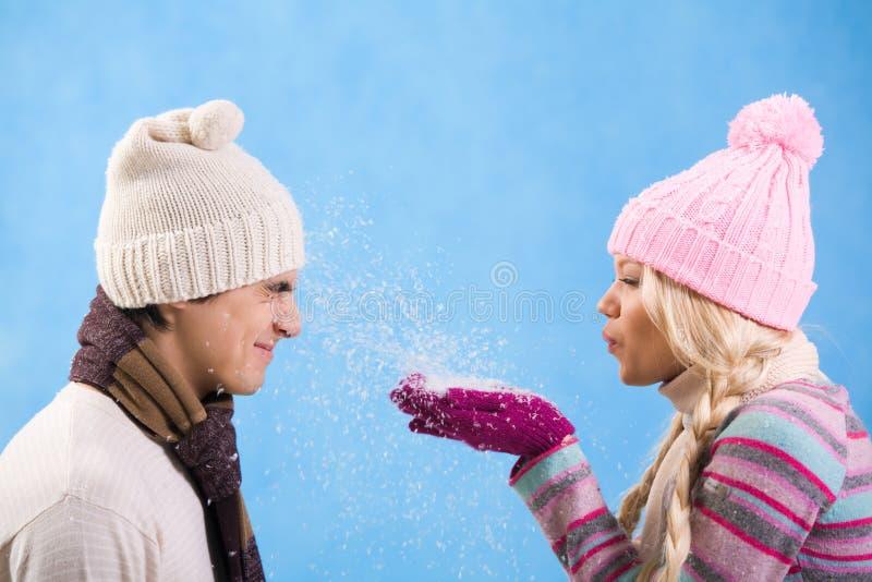 Diversión de la nieve fotografía de archivo libre de regalías