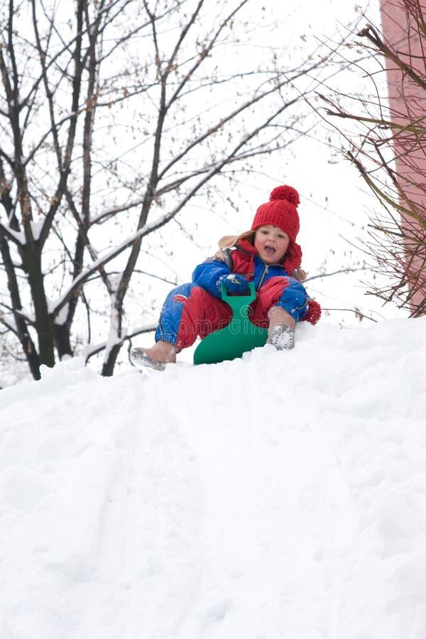 Diversión de la nieve imágenes de archivo libres de regalías