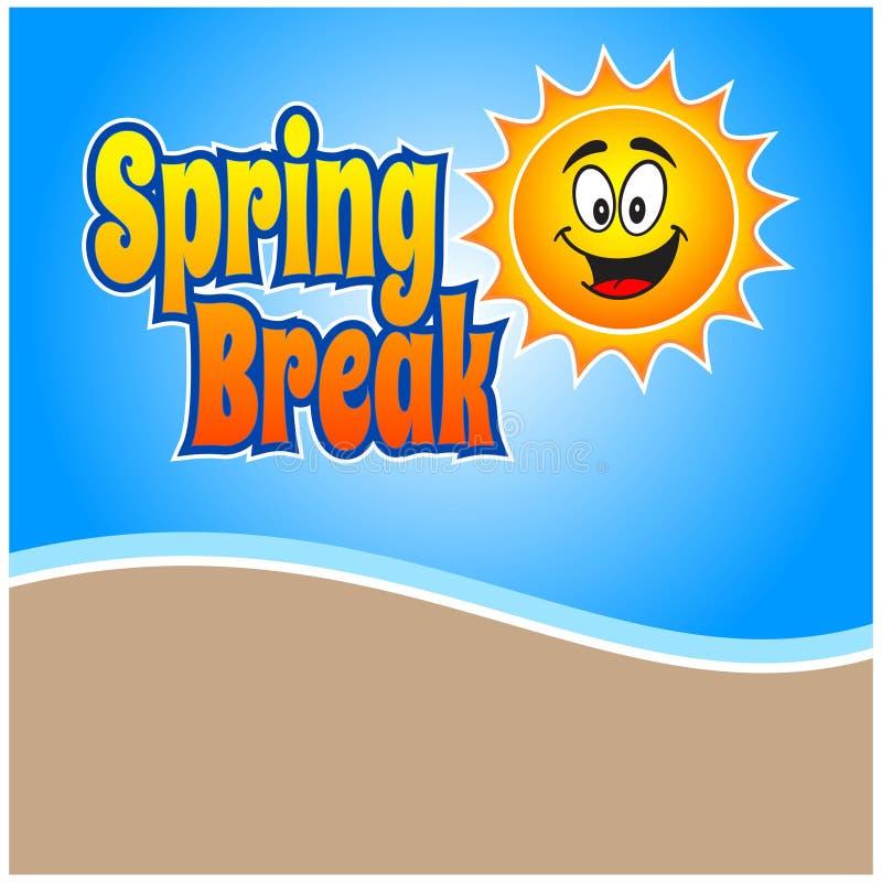 Diversión de las vacaciones de primavera ilustración del vector