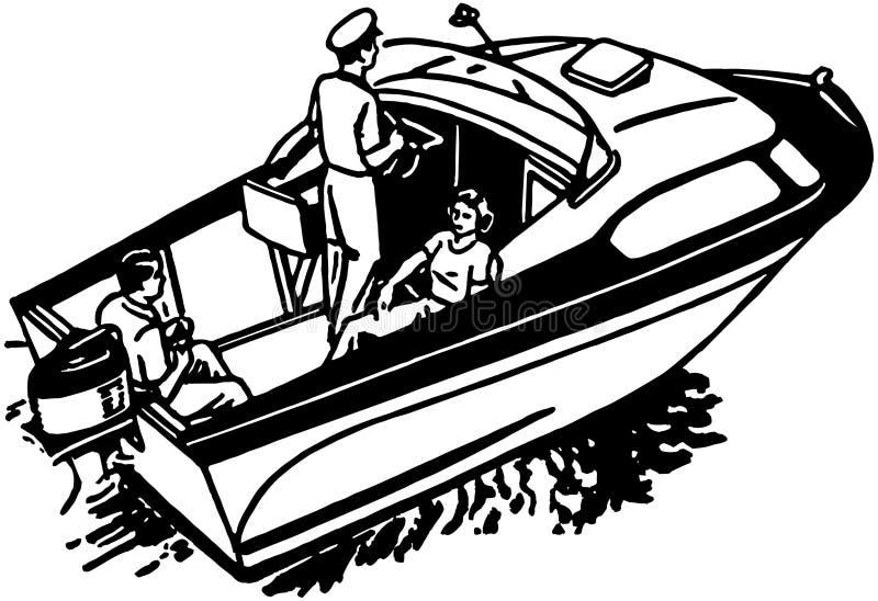 Diversión del canotaje ilustración del vector