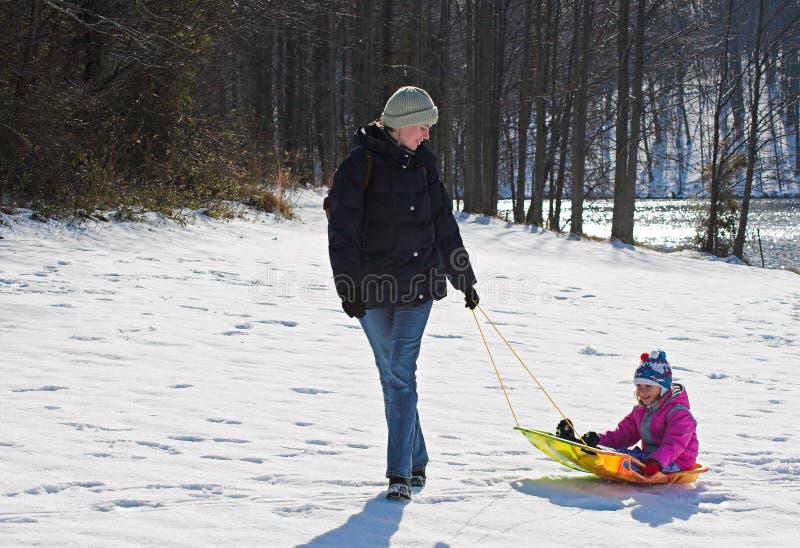 Diversión del invierno fotografía de archivo
