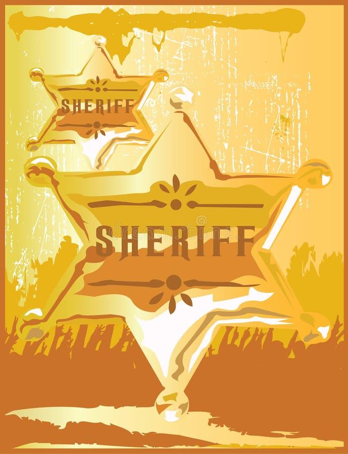 Diversión del sheriff stock de ilustración