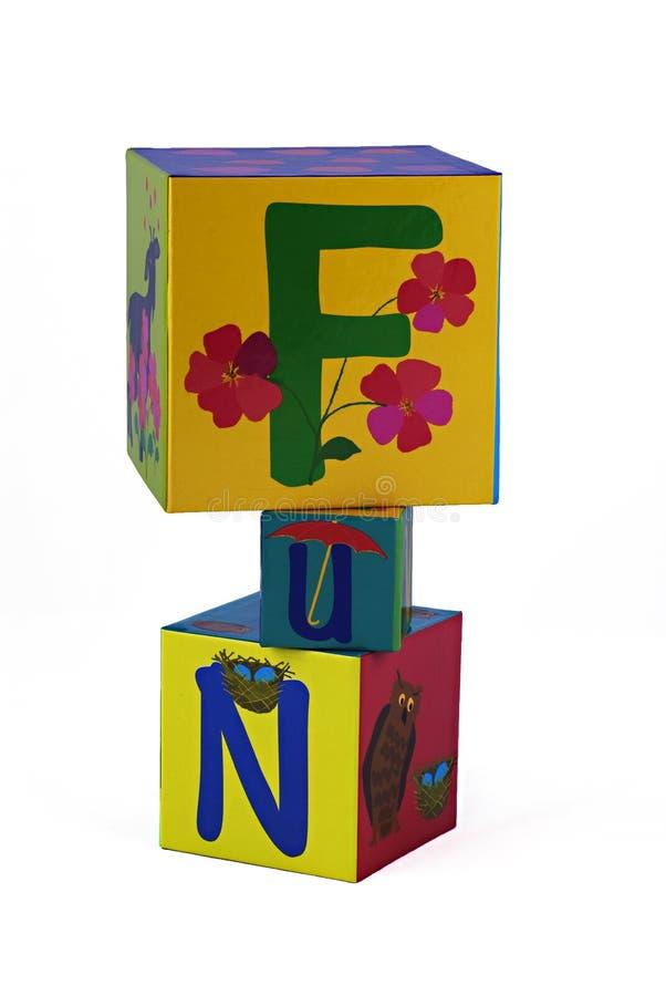 Diversión en bloques de los niños imagen de archivo libre de regalías
