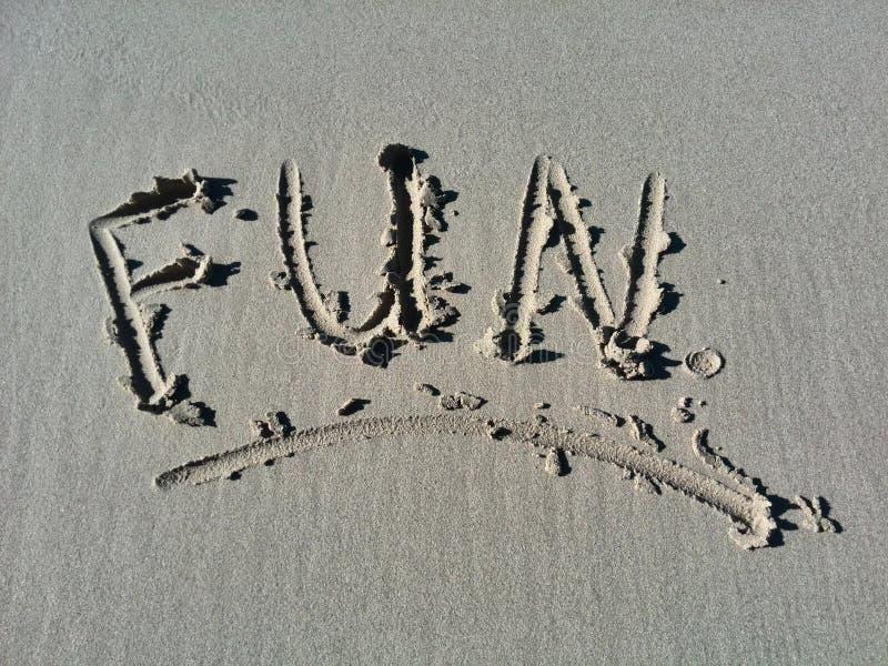 Diversión en el sol el día de fiesta en la playa imagen de archivo