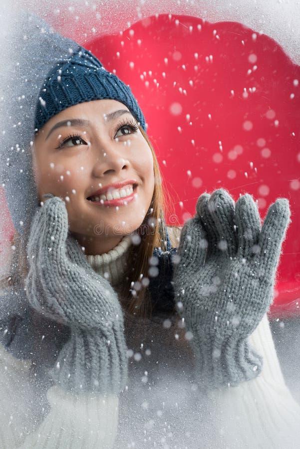 Diversión en invierno foto de archivo libre de regalías