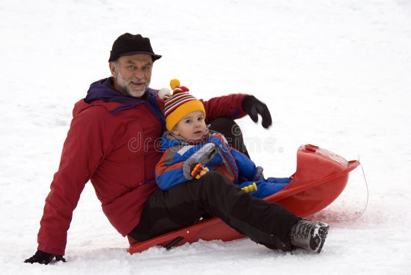 Diversión en la nieve imágenes de archivo libres de regalías