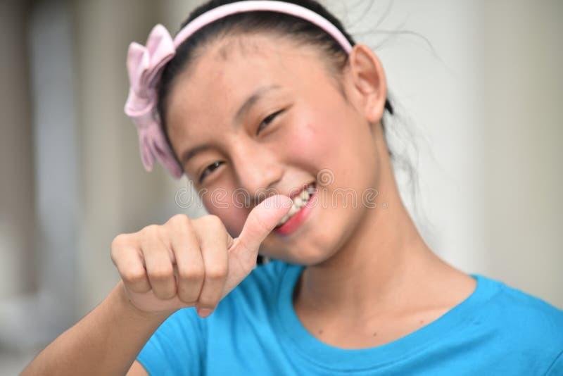 Diversión Filipina Teen Girl joven foto de archivo libre de regalías