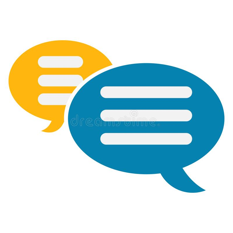 Diversión la nube del icono de discurso del diálogo libre illustration