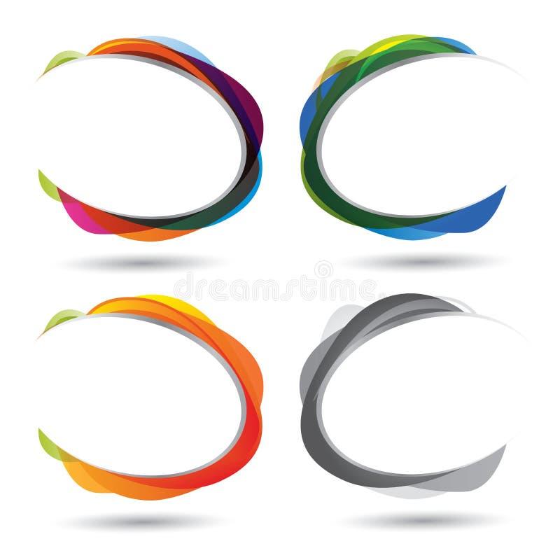 Diversión y conjunto colorido de la burbuja del discurso libre illustration