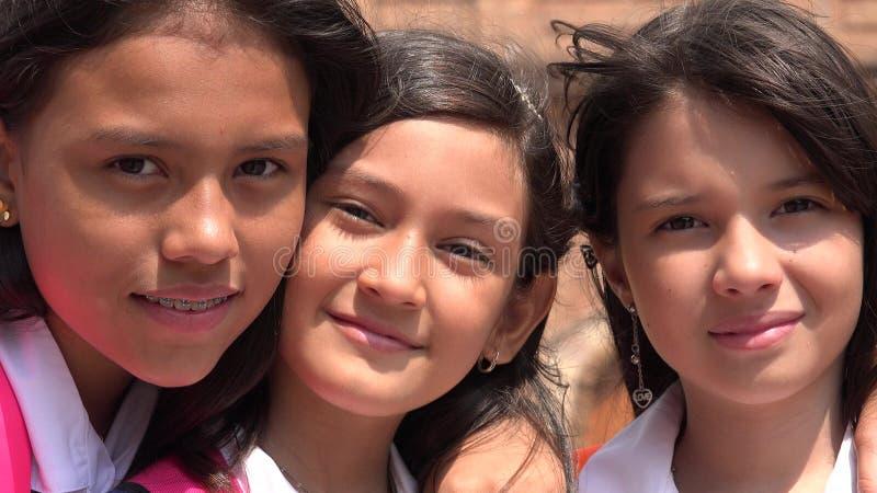 Diversi bambini femminili ispani fotografia stock