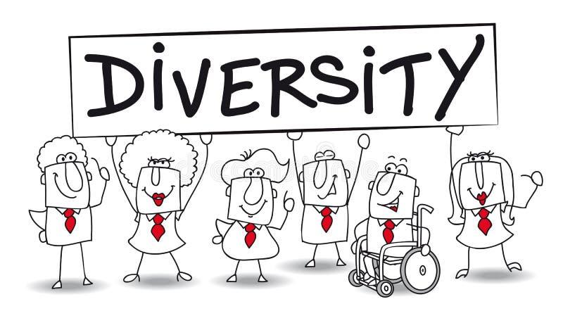 diversidad ilustración del vector