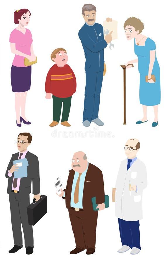 Diversidad de la gente stock de ilustración