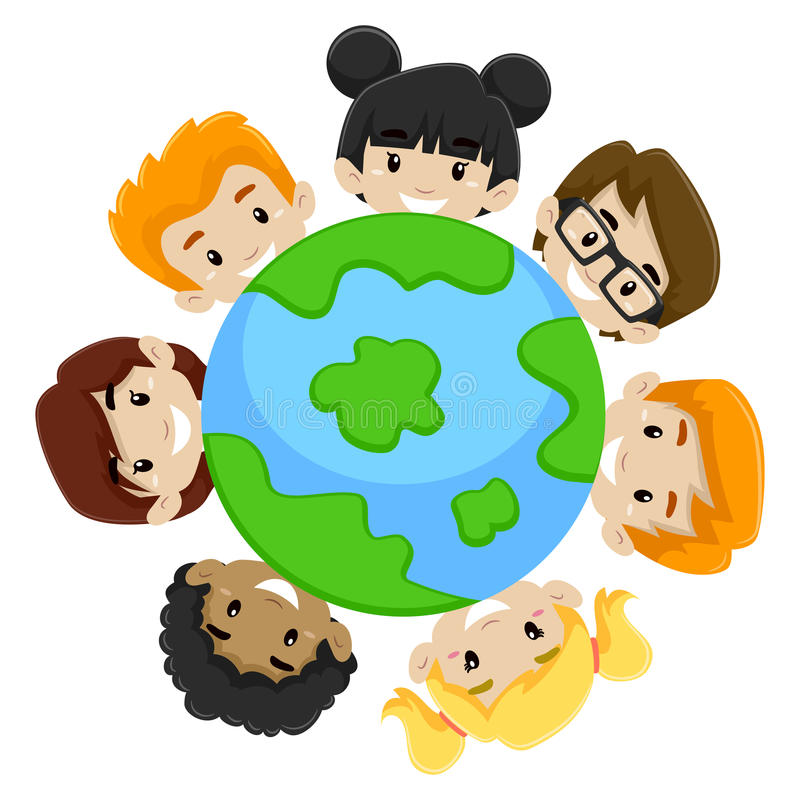 Diversidad de la tierra de los niños libre illustration
