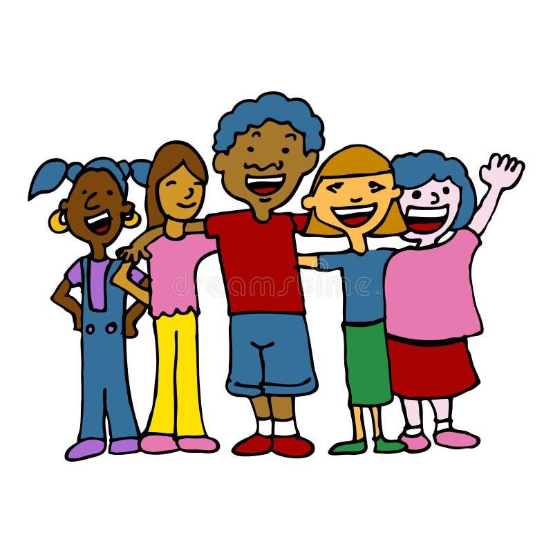 Diversidad de los niños stock de ilustración
