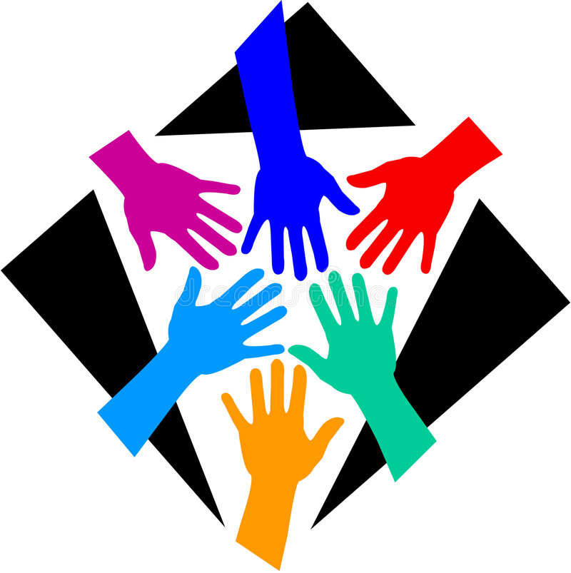 Diversidad/EPS del trabajo en equipo ilustración del vector