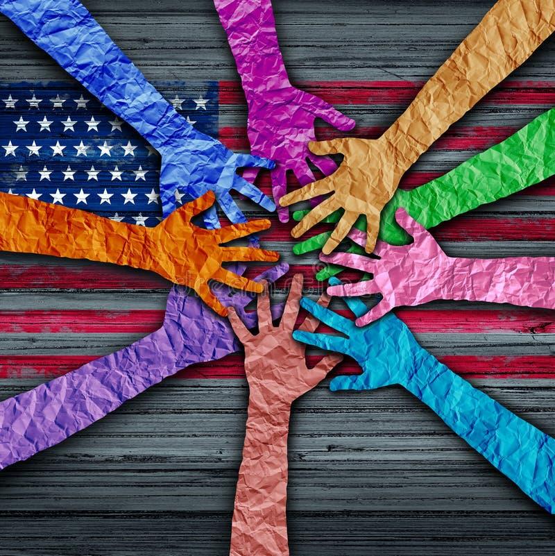 Diversidade americana ilustração stock