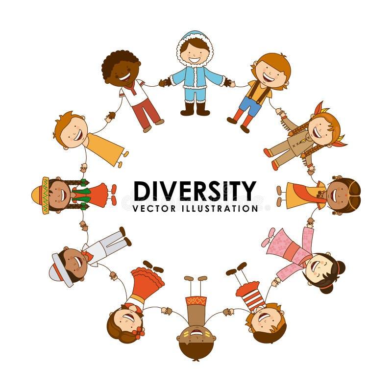 Diversidade das raças ilustração do vetor