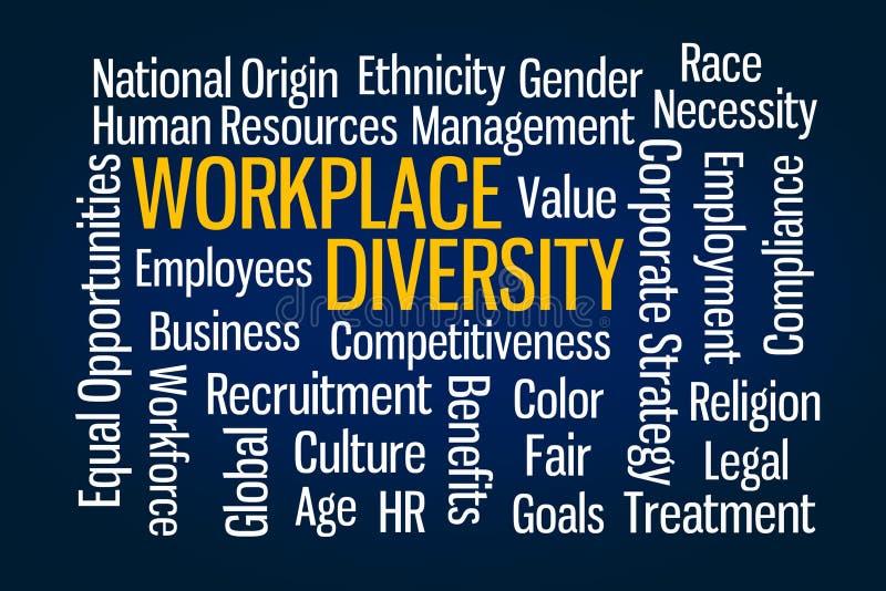 Diversidade do local de trabalho ilustração royalty free