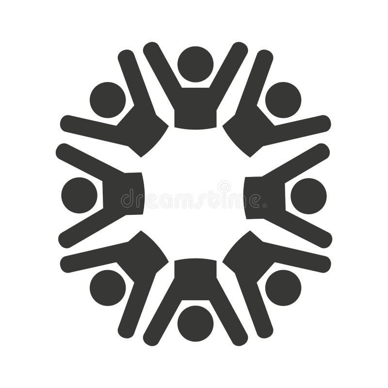 a diversidade dos povos isolou o projeto do ícone ilustração do vetor