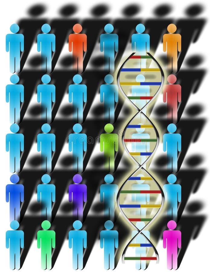 Diversidade e ADN ilustração royalty free