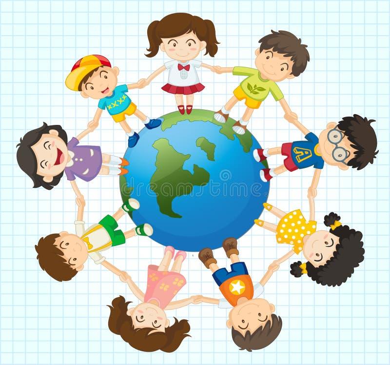 Diversidade global ilustração stock