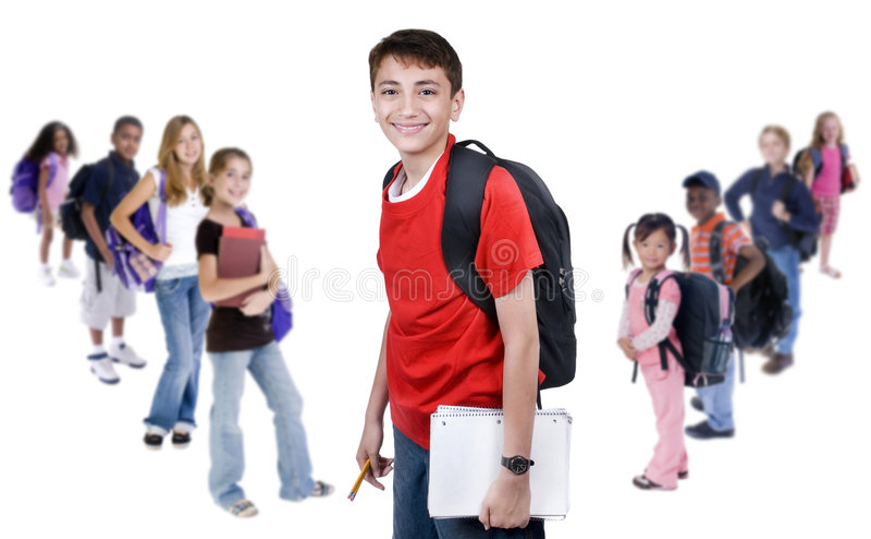 Diversidade na escola fotos de stock royalty free