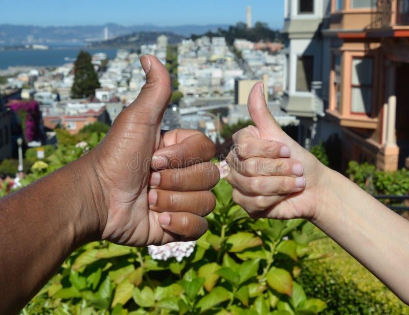 Diversidade racial sobre o San Francisco Bay foto de stock