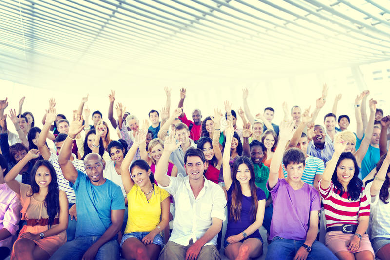 Diversidade Team Cheerful Community Concept ocasional imagem de stock royalty free