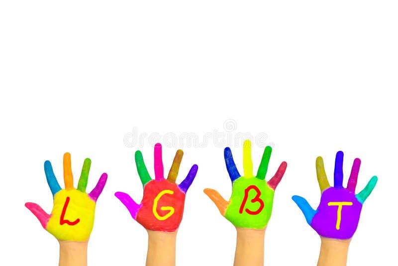 Diversidade, variedade e de comunidade de LGBT conceito imagens de stock