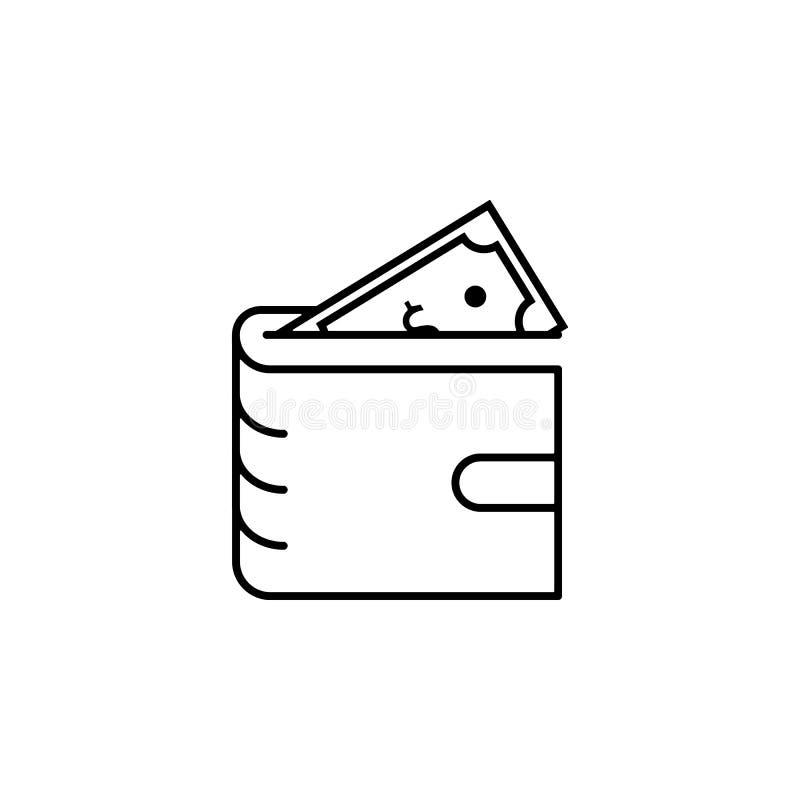 Diversificación del negocio, planificación financiera, icono de la cartera Elemento del ejemplo de la diversificación del dinero  libre illustration