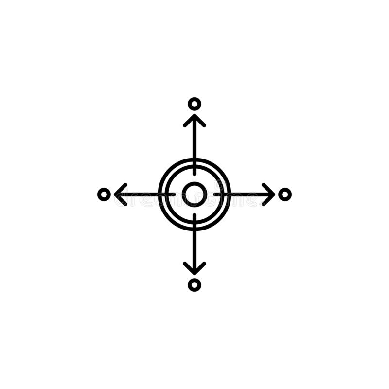 Diversification d'affaires, distribution, icône du marché Élément d'illustration de diversification d'argent Signes et icône de s illustration de vecteur