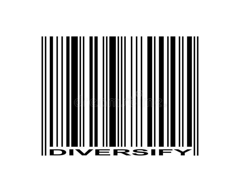 Diversifiera barcoden vektor illustrationer