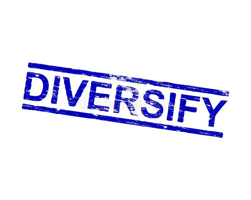 Diversifiera den Rubber stämpeln stock illustrationer