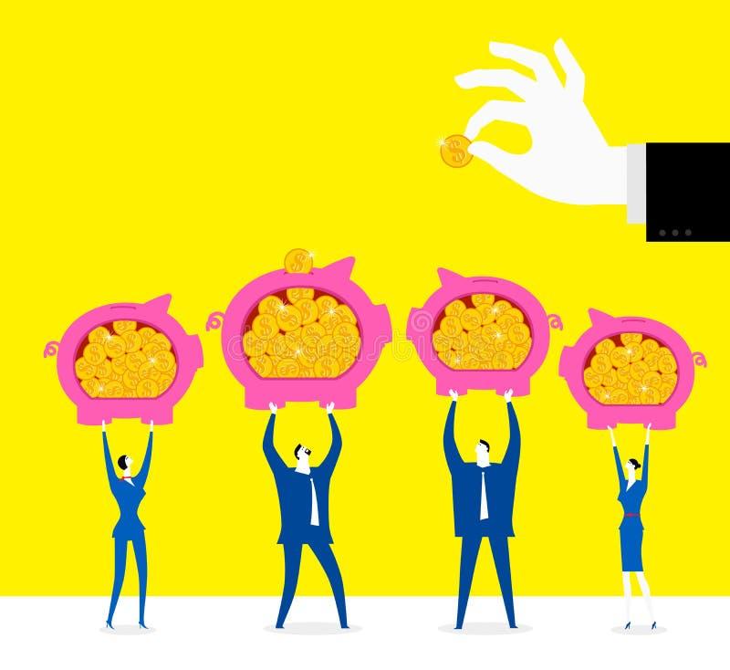 Diversifiera investeringrisker royaltyfri illustrationer