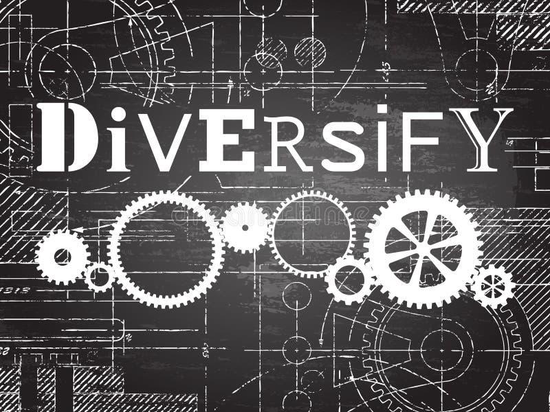 Diversifiera svart tavlaTechteckningen vektor illustrationer